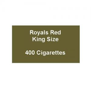 Royals Red King Size Cigarettes - 20 packs of 20 cigarettes (400)