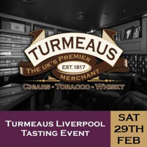 Turmeaus Liverpool Cigar and Whisky Tasting Event + 3 Course Meal - 29/02/20