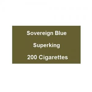 Sovereign Blue Superking - 10 packs of 20 Cigarettes (200)