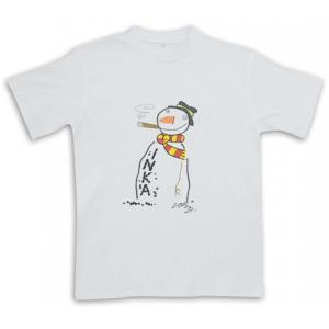 Snowman Smoking Inka - White - Christmas Cigar Themed T-Shirt