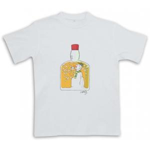 Snowman Snow Globe - White - Christmas Whisky Themed T-Shirt