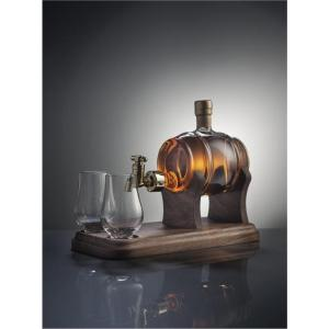 Barrel and 2 Glasses with Tap - 350ml (Stylish Whisky) 40%