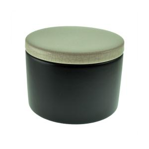 Black and White Ceramic Tobacco Jar