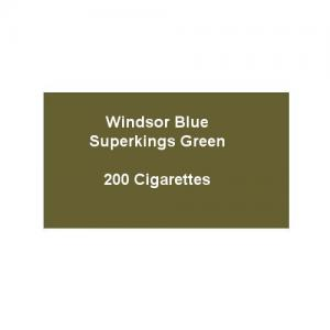 Windsor Blue Superkings Green - 10 Packs of 20 Cigarettes (200)