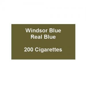 Windsor Blue King Size Real Blue - 10 Packs of 20 Cigarettes (200)