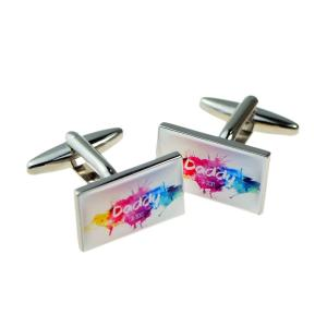 New Dad Established Personalised Cufflinks