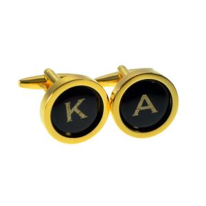 Initials Monogram Gold Plated Personalised Cufflinks