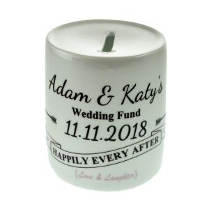 Wedding Fund Banner Design Personalised Money Box