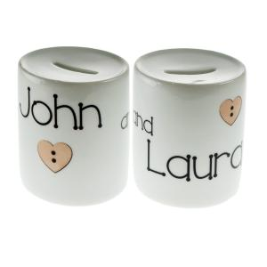 Couples Personalised Savings Money Box
