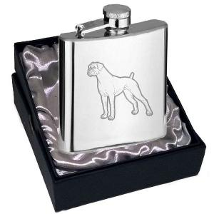 4oz Boxer Design Personalised Hip Flask