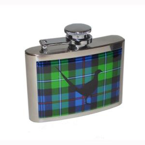 4oz Mac Kenzie Tartan Pheasant Personalised Hip Flask