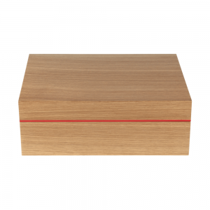 Zino Z80 Humidor - Natural Oak and Red - 80 Cigar Capacity