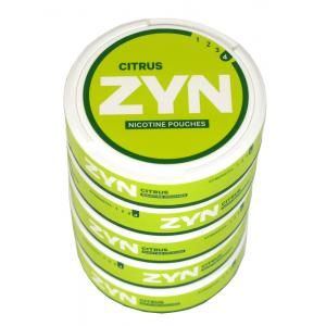 ZYN Tobacco Free Nicotine Pouch Citrus 6mg Can x5