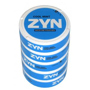 ZYN Tobacco Free Nicotine Pouch Cool Mint 3mg Can x5